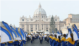 Rome New Year's Parade - Route Highlights - Basilica di San Pietro - St. Peter's Basilica
